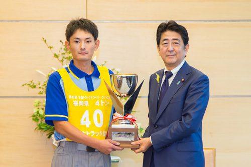矢野選手と安倍首相