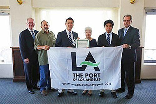 20160819mol1 500x334 - 商船三井/ロサンゼルスとロングビーチ両港から減速航行で表彰