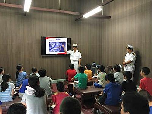 20160831nyk 500x375 - 日本郵船/広島の造船所で小学生らに船乗りの魅力アピール
