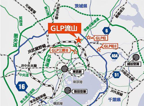 20160906glp3 500x370 - GLP/千葉県流山市に総延床面積32万m2、3棟の物流施設開発
