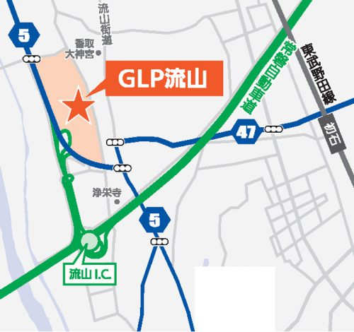 20160906glp4 500x470 - GLP/千葉県流山市に総延床面積32万m2、3棟の物流施設開発