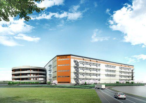 開発中のメープルツリー千葉ニュータウンロジスティクスセンター