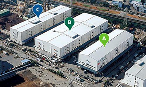 船橋西浦物流センターIIのA棟・B棟・C棟