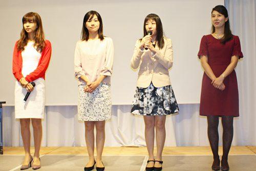 左から、吉原六段、井澤四段、種村二段、中島二段