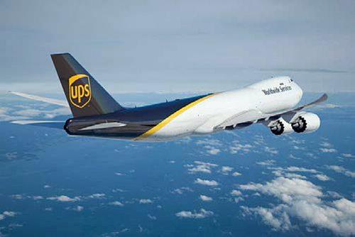 20161101ups1 500x334 - UPS/最新鋭のボーイング747-8F型ジャンボ貨物機、14機購入