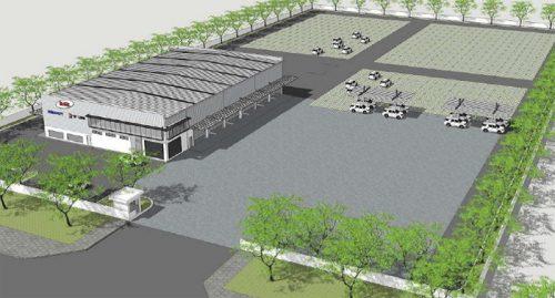 Vehicle Processing Center完成図 (2017年1月予定)