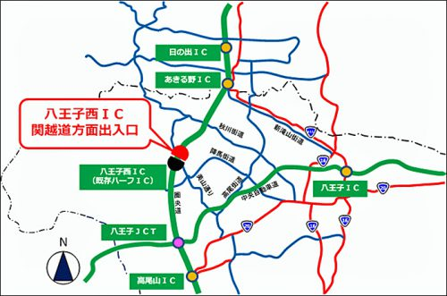 20161122nexconaka1 500x331 - 圏央道八王子西IC/関越道方面出入口、12月24日開通