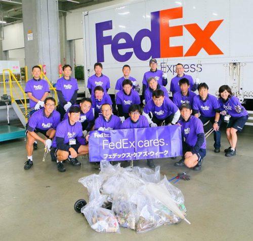 フェデックスのボランティア
