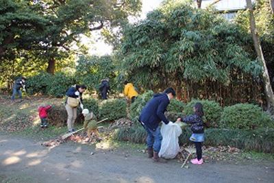 20161214nittsusyogi - 日通商事/旧芝離宮恩賜庭園清掃活動を実施