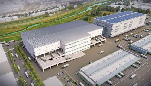 北大阪トラックターミナル・新棟計画 完成予想パース
