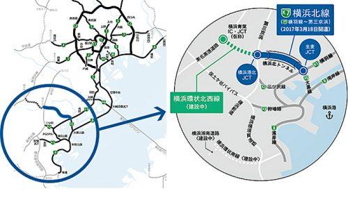 20170202syutoko1 500x288 - 首都高/横浜北線(横羽線~第三京浜)、3月18日16時開通
