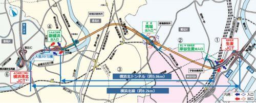 20170202syutoko3 500x201 - 首都高/横浜北線(横羽線~第三京浜)、3月18日16時開通