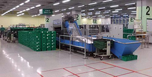 集中メール処理センターの郵便自動化システム
