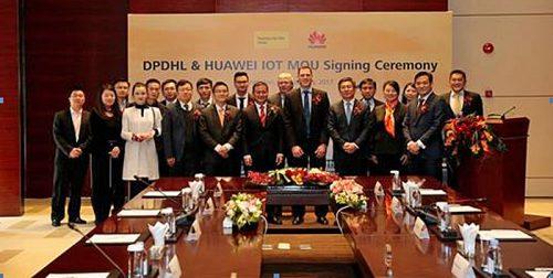IoT分野での協業に合意したファーウェイとドイツポストDHLグループ
