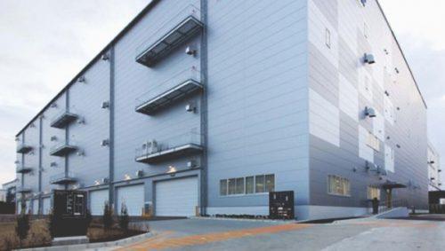 北エントランス2階部分がキューエクスプレス物流センター