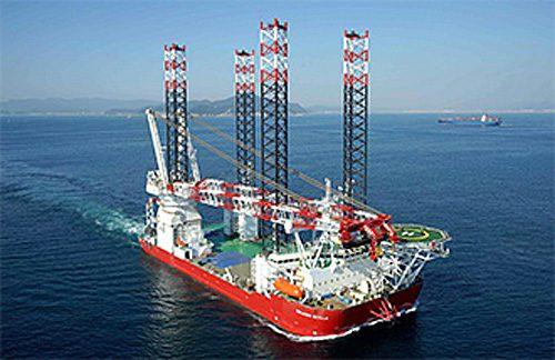 "Seajacks社が保有、運航する世界最大級のSEP船""Seajacks Scylla"""
