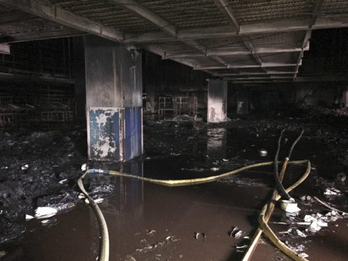 20170321asukul12 500x375 - アスクル/火災の倉庫1階部分、ほぼ焼損なし