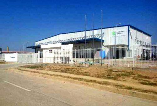 ミャンマーの自社倉庫