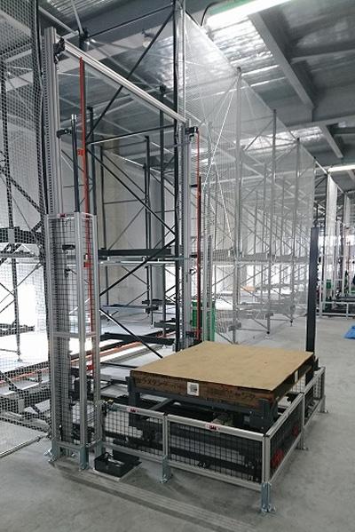 自動倉庫を配備