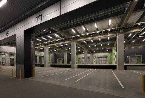 1階倉庫内、トラックバース