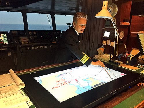 20170517nyk 500x375 - 日本郵船/航海情報を大型ディスプレイの運航支援装置開発