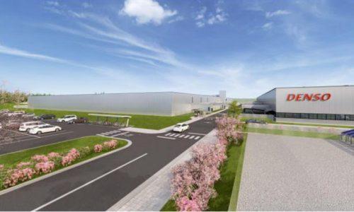 デンソー福島新工場完成イメージ(左)