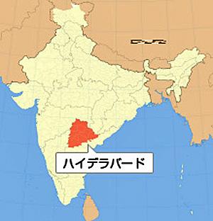 位置図 Telangana州
