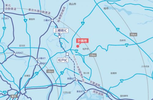 20170609cpd1 500x329 - センターポイント/千葉県松戸市に物流施設用地取得