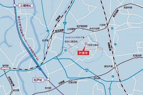20170609cpd2 500x333 - センターポイント/千葉県松戸市に物流施設用地取得