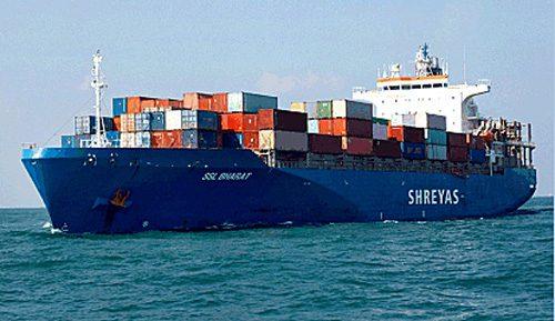 Shreyas Shipping and Logisticsのコンテナ船