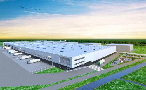 DHLの専用施設(オランダ、ユトレヒト)