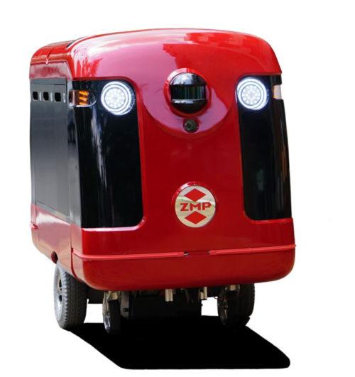 20170713zmp1 500x531 - ZMP/歩道の自動走行を目指す宅配ロボット開発、寿司デリバリーで実験