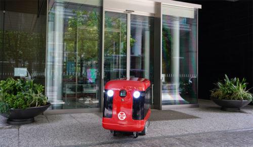 20170713zmp2 500x291 - ZMP/歩道の自動走行を目指す宅配ロボット開発、寿司デリバリーで実験