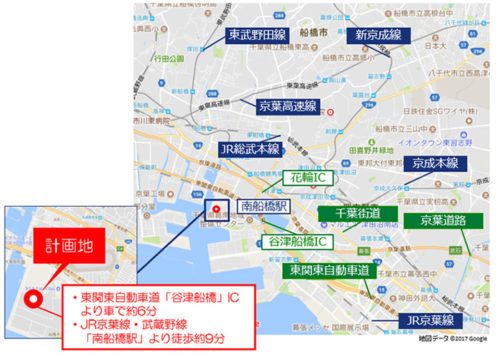 MFLP船橋II位置図