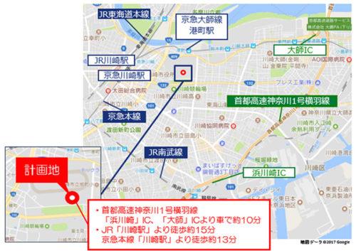MFLP川崎Ⅰ位置図