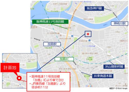 MFLP大阪Ⅰ位置図