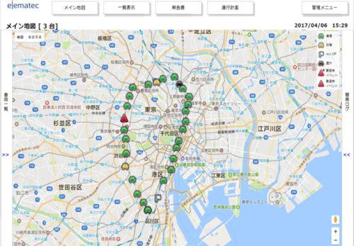 運行地図画面