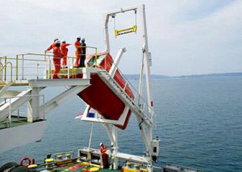 救命艇・進水装置の年次検査