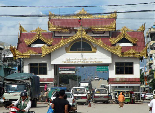 ミャワディ国境ゲート-ミャンマー側