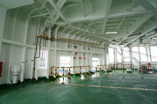 A甲板も横に空洞があるため危険品貨物対応となる