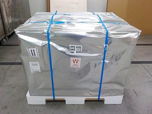 航空輸送では保冷梱包して鮮度を保持