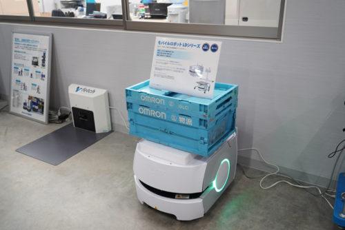 オムロン社の自律搬送型ロボット