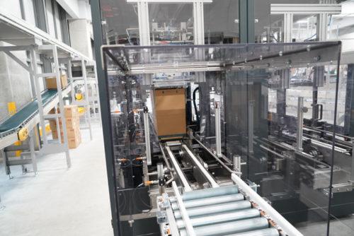 レンゴー社製の自動封函機「e-Cube」