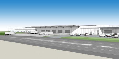 増築後の茨城西物流センター完成予想図