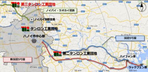 第三タンロン工業団地の地図