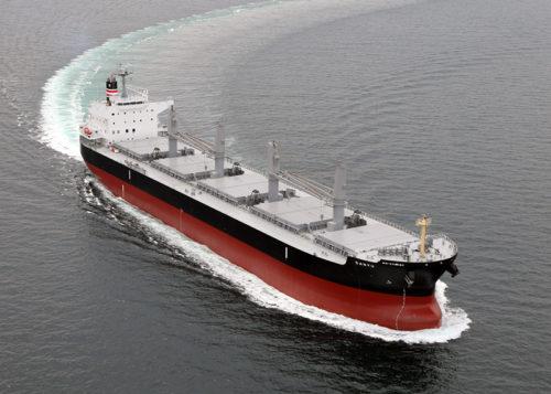 56,000重量トン型ばら積み貨物運搬船「サンユウ」