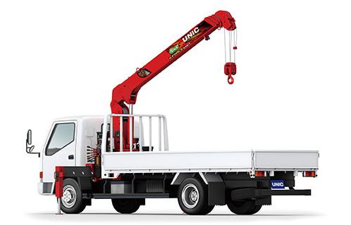 小型トラック向けにフルモデルチェンジしたユニッククレーン