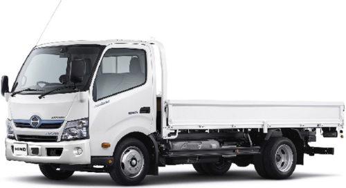 20171010hino 500x272 - 日野/小型トラック「日野デュトロ ハイブリッド」、ワイドキャブ車を改良