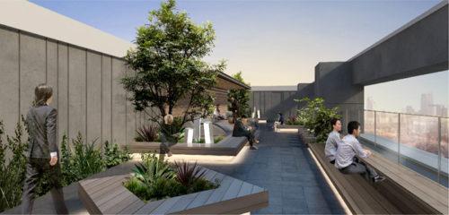 グッドマンビジネスパークステージ2完成予想図屋上テラス