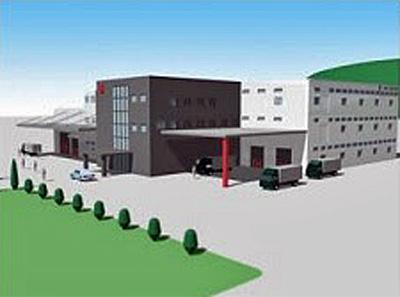 関東新工場の完成予想図